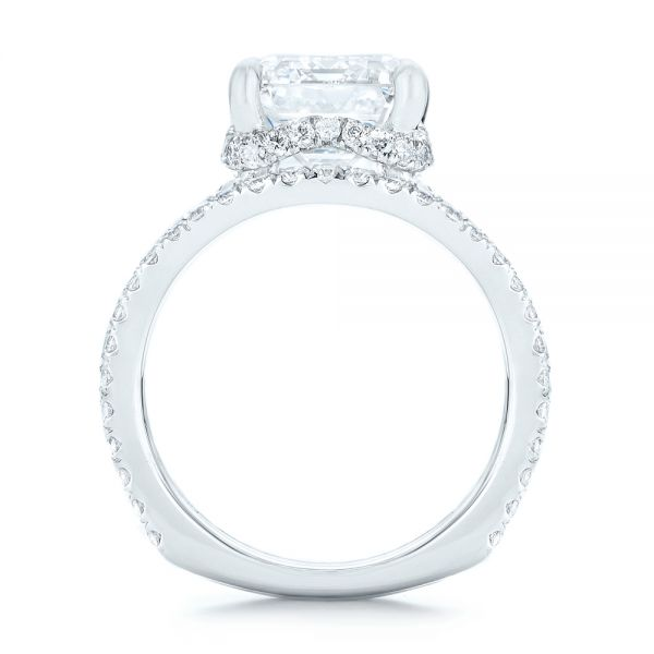 18k White Gold 18k White Gold Custom Diamond Engagement Ring - Front View -