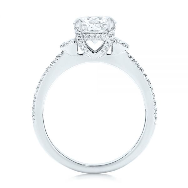 Custom Diamond Engagement Ring - Front View -  103219 - Thumbnail