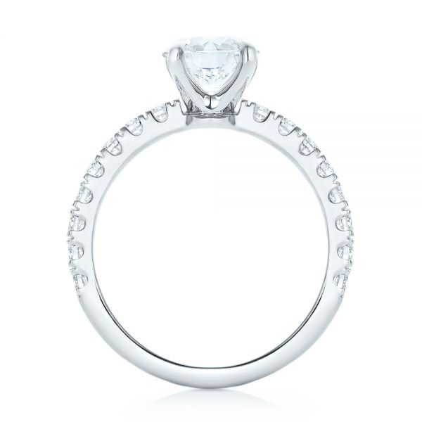 Custom Diamond Engagement Ring - Front View -  103235 - Thumbnail