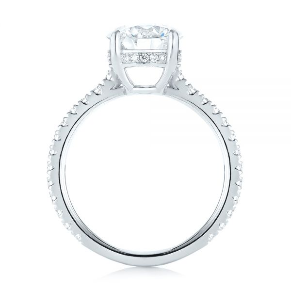 Custom Diamond Engagement Ring - Front View -  103369 - Thumbnail
