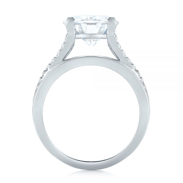 Custom Diamond Engagement Ring - Front View -  103487 - Thumbnail