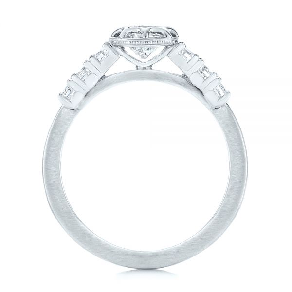Custom Diamond Engagement Ring - Front View -  104063 - Thumbnail