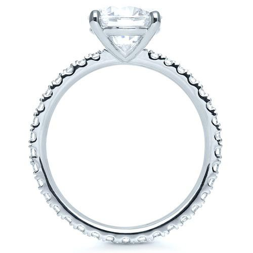 Custom Diamond Engagement Ring - Front View -  1104 - Thumbnail
