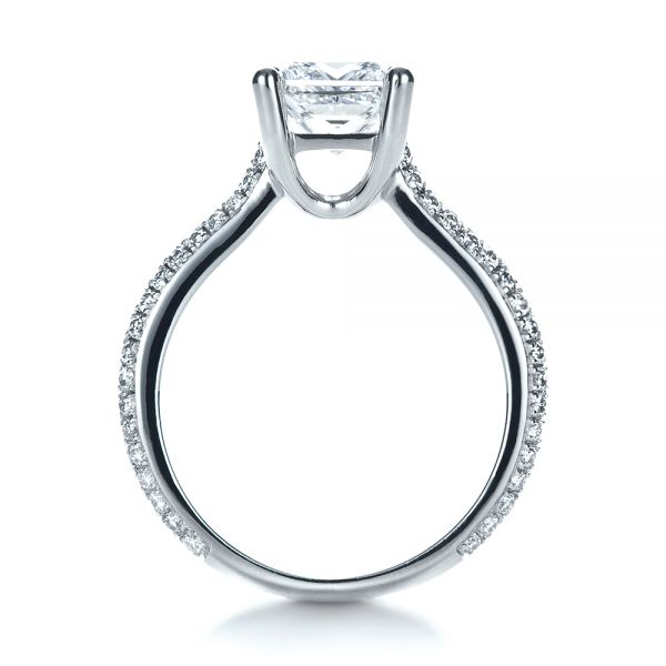 Custom Diamond Engagement Ring - Front View -  1402 - Thumbnail