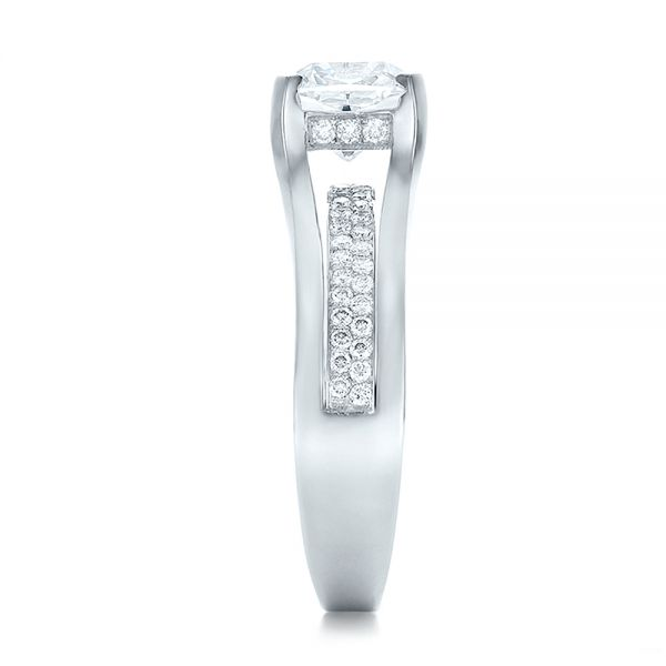 Custom Diamond Engagement Ring - Side View -  100610 - Thumbnail