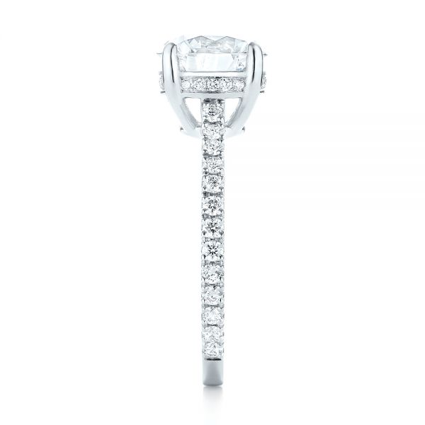 Platinum Custom Diamond Engagement Ring - Side View -