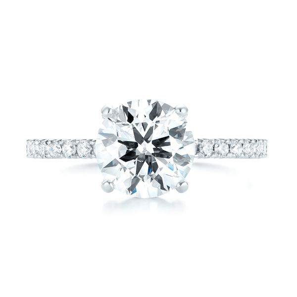 Custom Diamond Engagement Ring - Top View -  103369 - Thumbnail