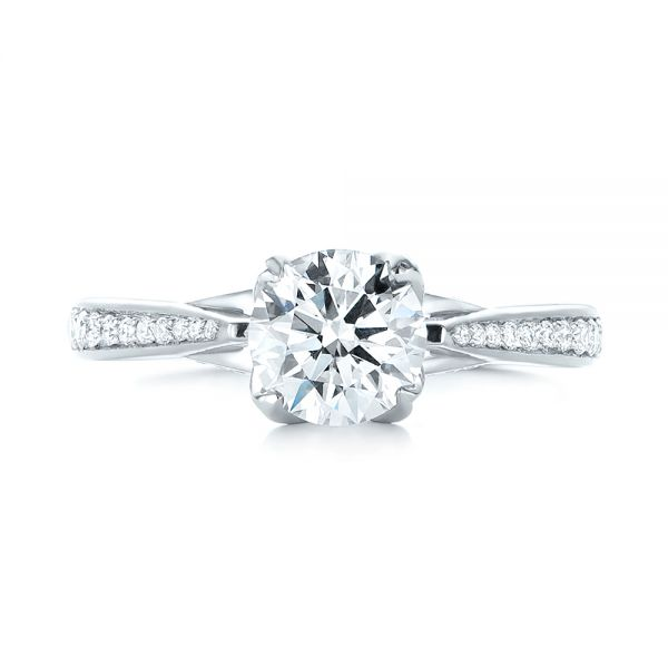 Custom Diamond Engagement Ring - Top View -  103464 - Thumbnail