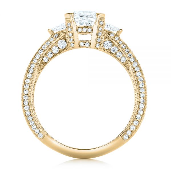 14k Yellow Gold 14k Yellow Gold Custom Diamond Engagement Ring - Front View -  102457