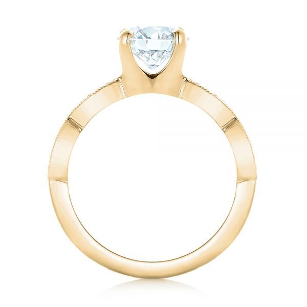 14k Yellow Gold 14k Yellow Gold Custom Diamond Engagement Ring - Front View -