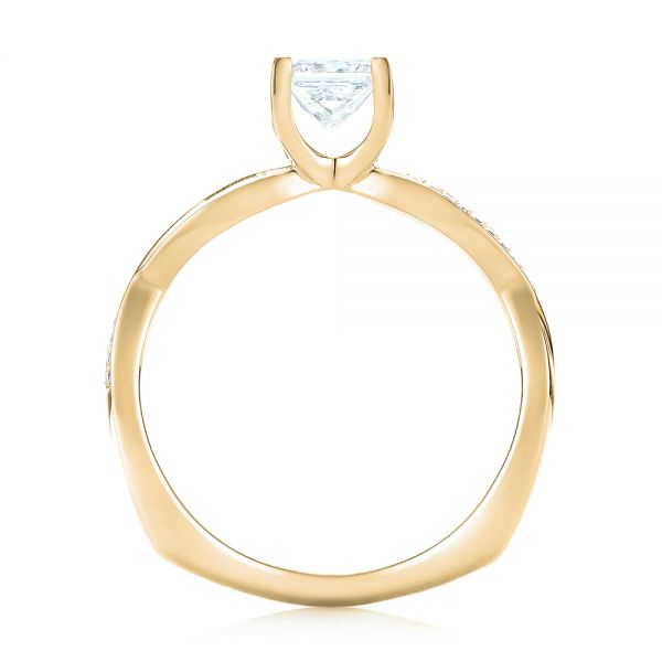 18k Yellow Gold 18k Yellow Gold Custom Diamond Engagement Ring - Front View -  103637