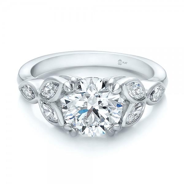 custom marquise diamond wedding band bellevue seattle joseph