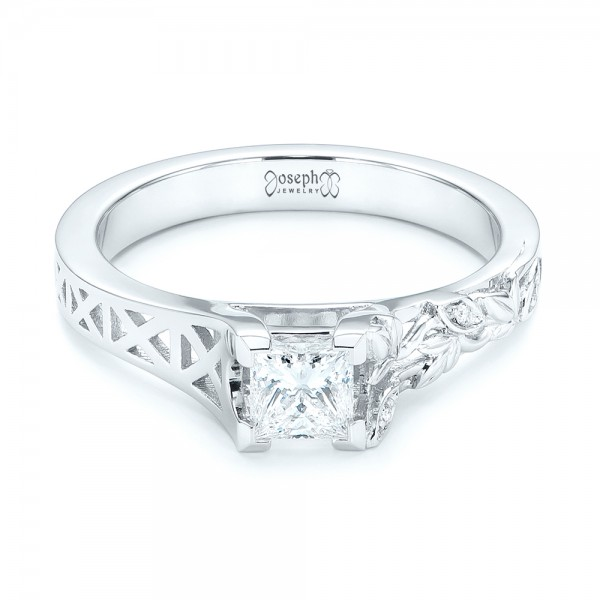 Custom Diamond Engagement Ring - Laying View