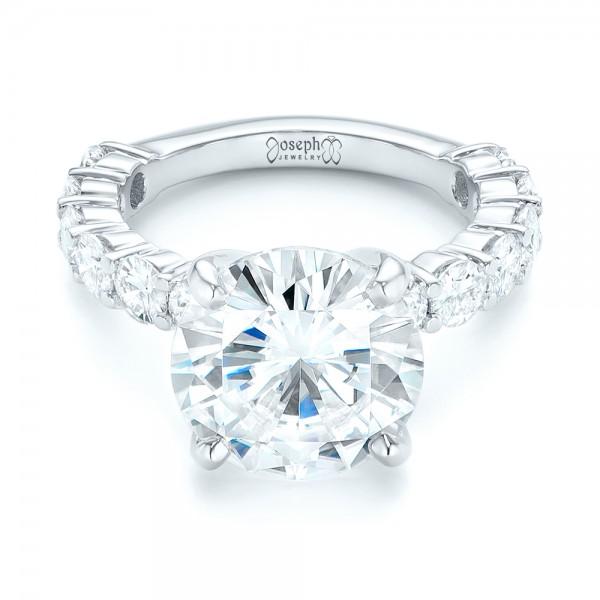 Custom Diamond Engagement Ring - Laying View