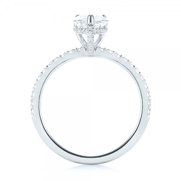 Custom Diamond Engagement Ring - Front View -  103604 - Thumbnail