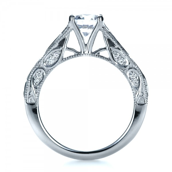 Custom Diamond Engagement Ring - Front View -  1296 - Thumbnail