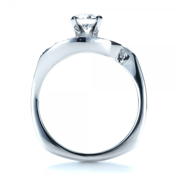 Custom Diamond Engagement Ring - Front View -  1302 - Thumbnail