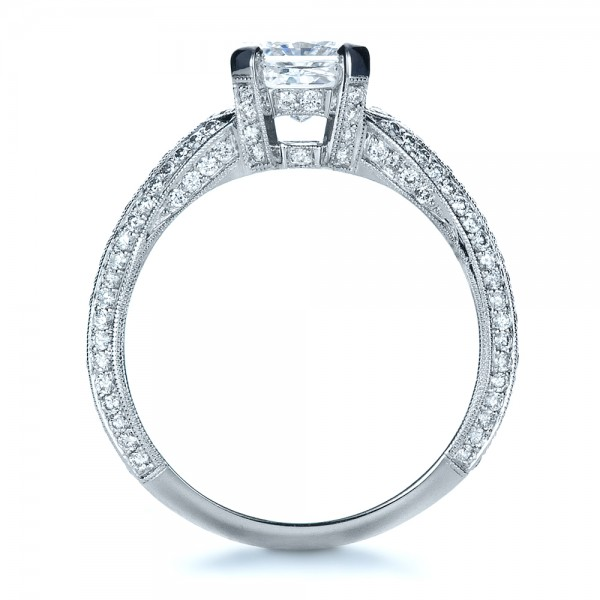 Custom Diamond Engagement Ring - Front View -  1410 - Thumbnail