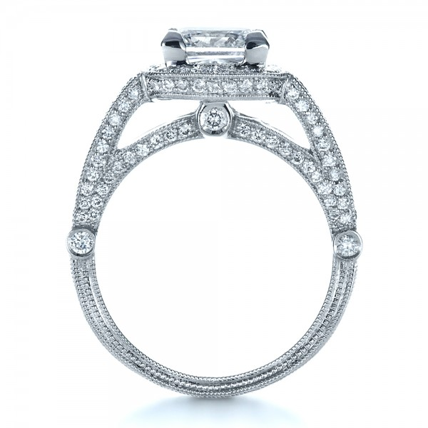 Custom Diamond Engagement Ring - Front View -  1416 - Thumbnail