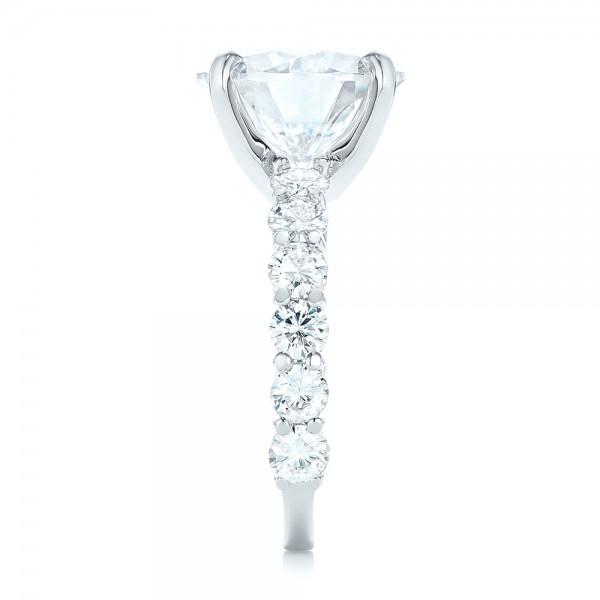 Custom Diamond Engagement Ring - Side View