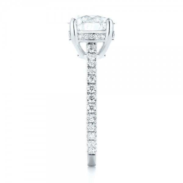 Custom Diamond Engagement Ring - Side View