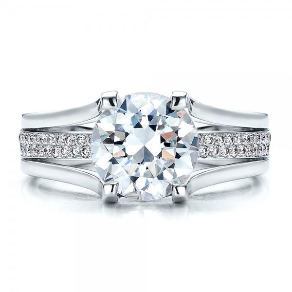 Custom Diamond Engagement Ring - Top View