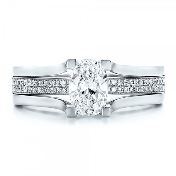 Custom Diamond Engagement Ring - Top View