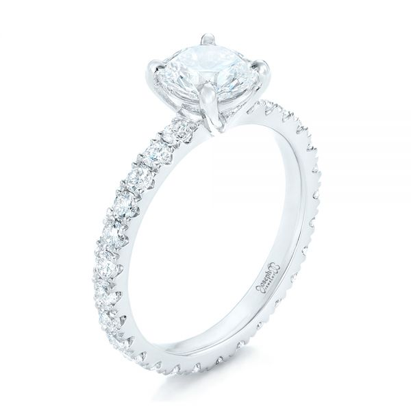 Custom Diamond Eternity Engagement Ring - Image