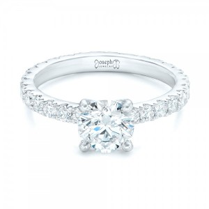 Custom Diamond Eternity Engagement Ring
