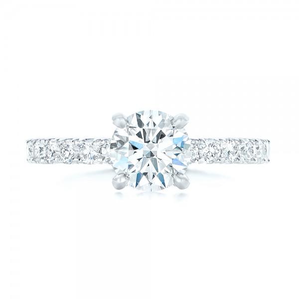 Custom Diamond Eternity Engagement Ring - Top View