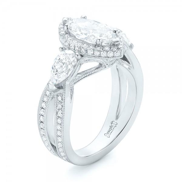 Custom Diamond Halo Engagement Ring 102873