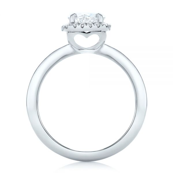 Custom Diamond Halo Engagement Ring - Front View -  102460 - Thumbnail