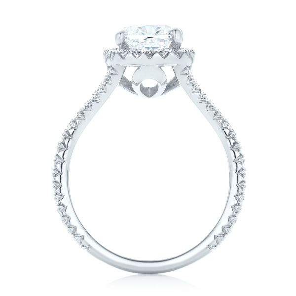 Custom Diamond Halo Engagement Ring - Front View -  103353 - Thumbnail