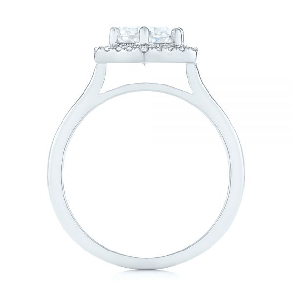 Custom Diamond Halo Engagement Ring - Front View -  103992 - Thumbnail