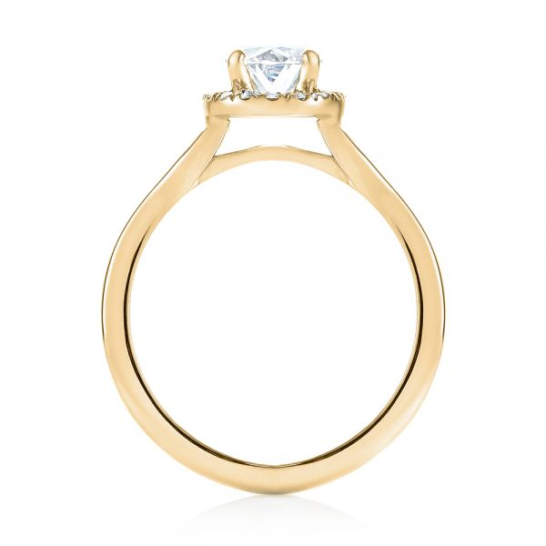 14k Yellow Gold 14k Yellow Gold Custom Diamond Halo Engagement Ring - Front View -  103413