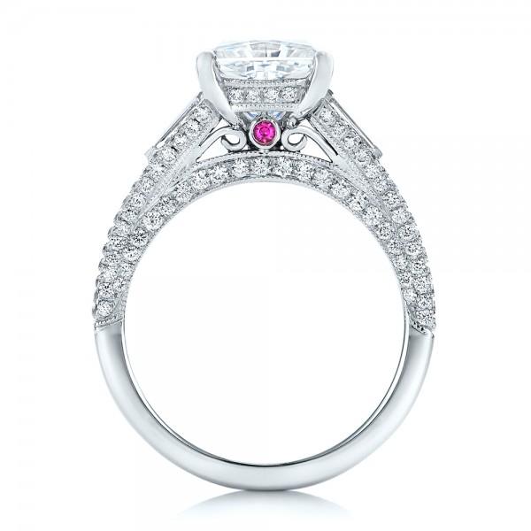 Custom Diamond And Pink Tourmaline Engagement Ring 102324