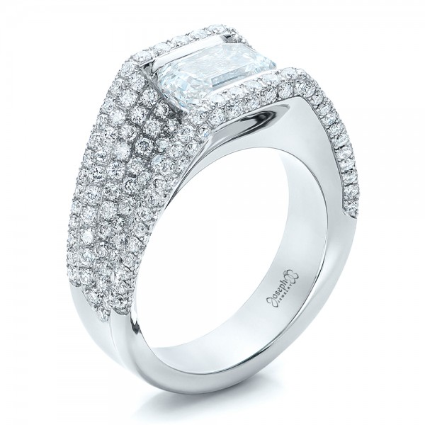 Custom Diamond Pave Engagement Ring