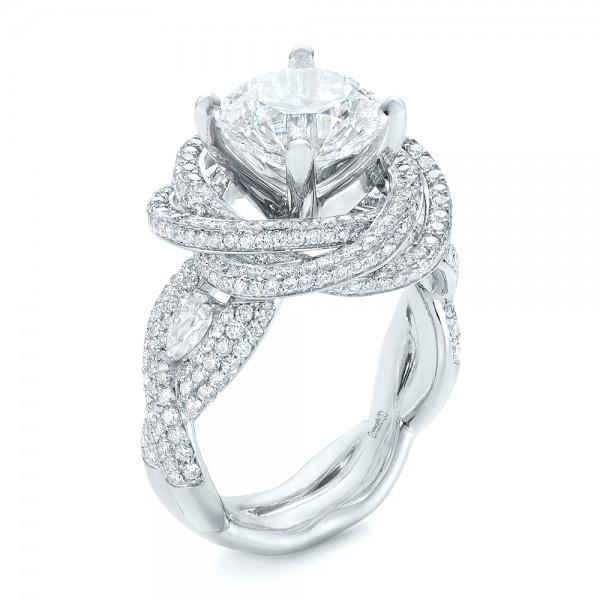 Custom Diamond Pave Engagement Ring