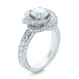 Custom Diamond Pave Engagement Ring - Image