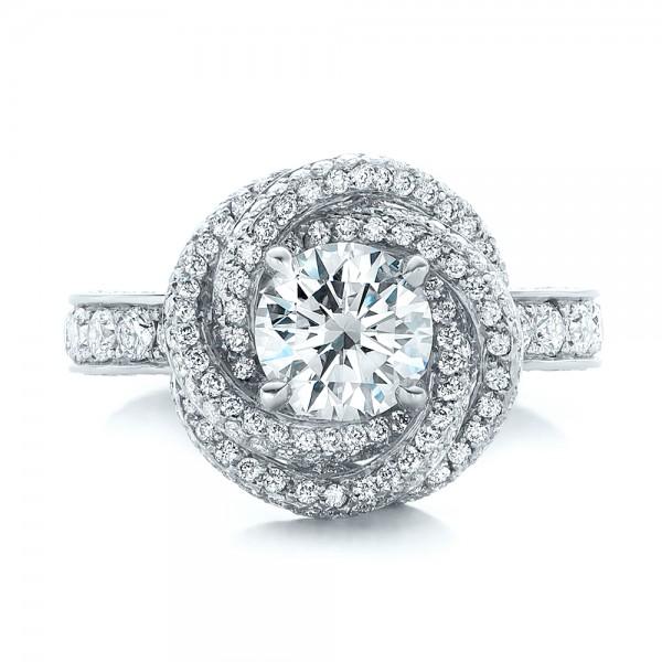 custom pave engagement ring 102179
