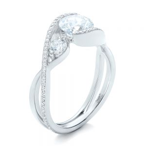 Custom Diamond Wrap Engagement Ring - Image