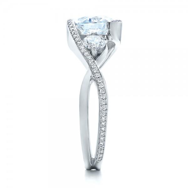 Custom Diamond Wrap Engagement Ring - Side View