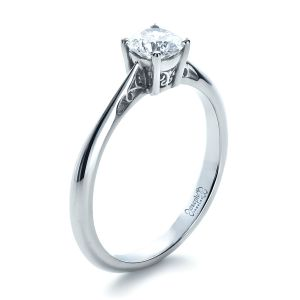 Custom Diamond and Filigree Engagement Ring - Image