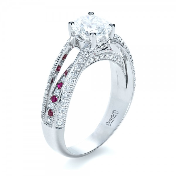custom and ruby engagement ring 1309