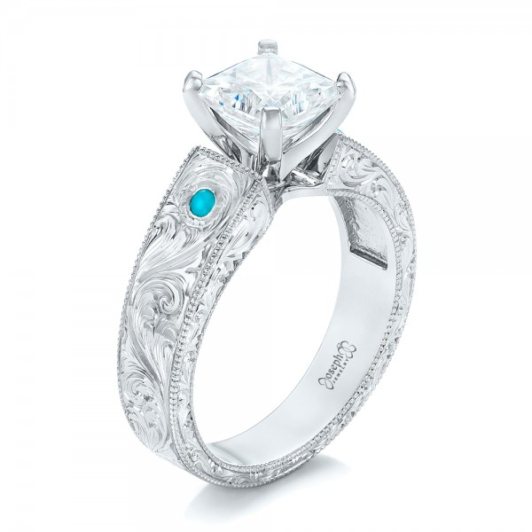 mywedding gemstone white rings jewelry diamond turquoise and colored engagement ring diamon