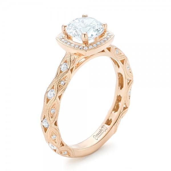Custom Diamond in Filigree Engagement Ring