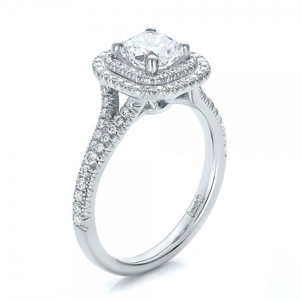 Halo Enement Ring   Custom Double Halo Diamond Engagement Ring 100613 Seattle