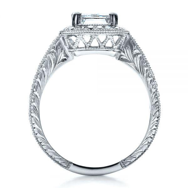 Custom Emerald Cut Diamond Engagement Ring 1478 Seattle