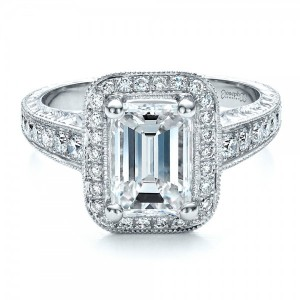 Custom Emerald Cut Diamond Engagement Ring