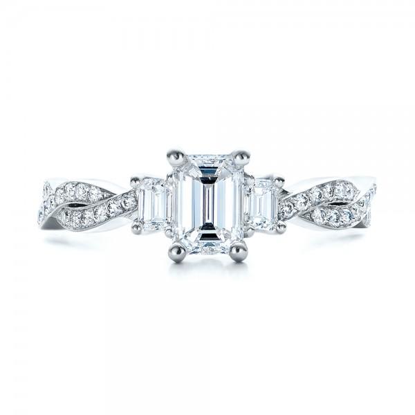 Custom Emerald Cut Diamond Engagement Ring